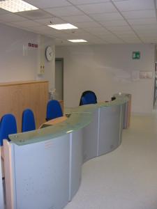 Bancone reception reparto