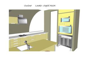 Progetto cucina per residenza protetta